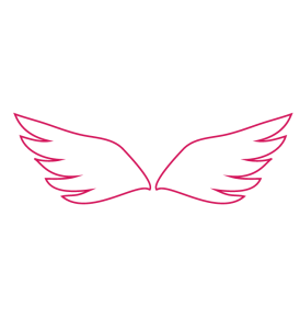 angel wings line icon pink-01